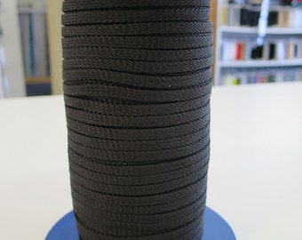 5mm x 150mts - Flat black polyester cord