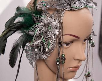 Head dress * Green Pearl *.