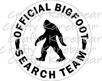 Big Foot Search Team SVG and DXF Digital File Download