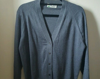 Vintage - Grey Wool Cardigan