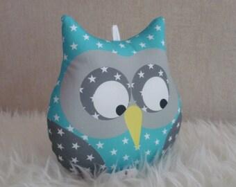 Starry blue musical OWL cushion