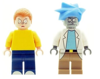 Custom Designed Minifigures - Rick and Morty Printed On LEGO Parts