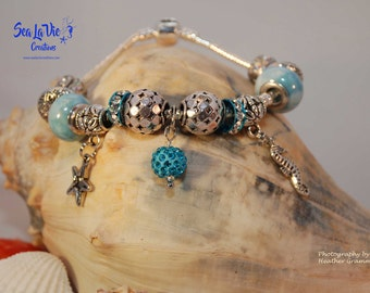 Sea Horse and Star Fish Charm Bracelet