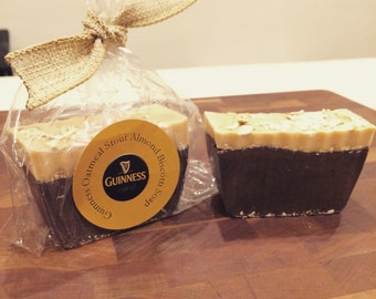Guinness Oatmeal Stout Almond Biscotti Soap