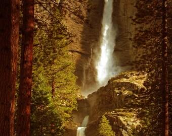 Yosemite Falls, Upper Falls, Lower Falls, California, landscape, photography, wall art
