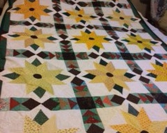 Scrappy Sunflower Quilt