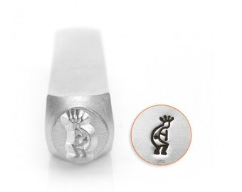 Southwestern Design Metal Stamps, Kokopelli Design Stamp, 6mm Jewelry & Craft