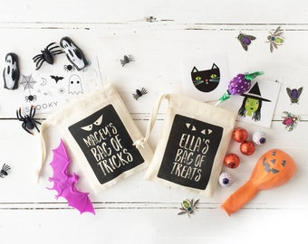 Personalised Halloween Bags of Tricks and Treats