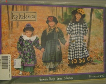Garden Party Dress Collection by k.p. kids & co. UNCUT PATTERN