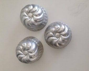 Vintage Baking Molds or Jello Molds Aluminum Set of  3