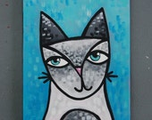 """8x10 Acrylic Cat Painting - """"Remy"""""""
