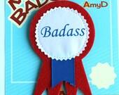 AmyD Adult Award Ribbon - Badass
