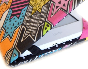 Kindle Cover - Rad Houndstooth - case for new kindle eReader - retro 80s geometric