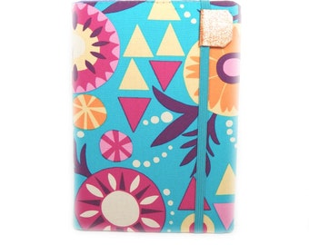 Kindle Touch cover - Southwest Floral - also fits Kindle Paperwhite -  eReader case - desert geometric pink, turquoise, and orange flowers