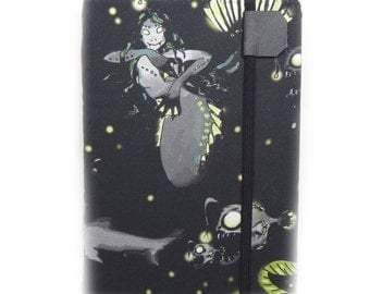 Kindle Paperwhite Cover - Zombie Mermaid of the Deep - Kindle Touch eReader case - scary fish cover for Kindle - gadget tech gift