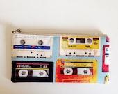 Flat  zipper pouch  -cassette tape