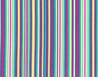 Fat quarter - Play Stripe in Malibu - Michael Miller cotton quilt fabric