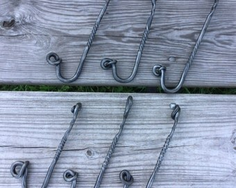 Handforged hooks Special listing for Kayla
