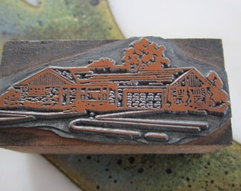 Ranch House Vintage Letterpress Printers Block