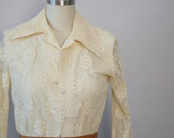 1970s LACE blazer vintage