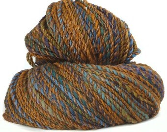 Handspun Yarn handdyed Merino wool and silk