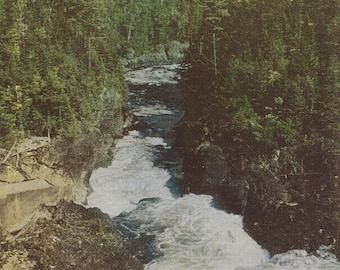 Vintage 1960s Postcard Maine Ripogenus Gorge Canyon Dam Wilderness Nature Scenic Photochrome Era Postally Unused