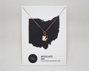 Ohio Enamel Necklace