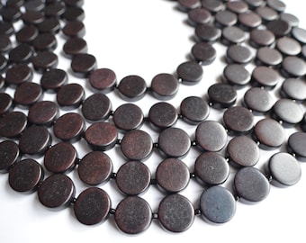 The Charlotte- Black Wood Statement Necklace