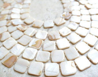 Tegan - White Mother of Pearl Statement Necklace