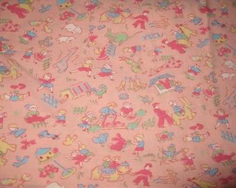 Vintage Baby Blanket, Coverlet, Lightweight Cover, Baby Girl, Ruffle