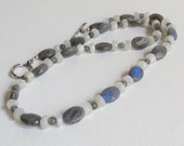 Beautiful Labradorite and Moonstone Necklace, Sterling Silver Clasp, Statteam