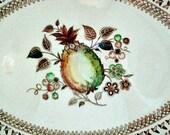 Johnson Brothers Fruit Sampler 12 inch Platter / Transferware Vintage Platter /  / Replacement Dinnerware