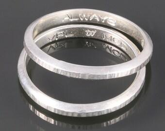 Customized Inside-Ring Engraving - Block Font