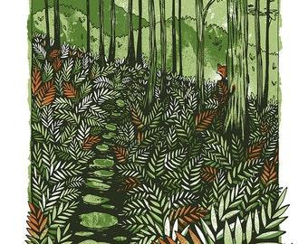 Ferns - Mini Art Print