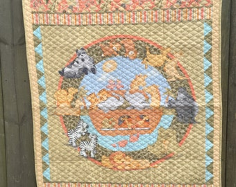 Noah's Ark-Two of a Kind Baby Quilt With Soft Cloth Storybook FREE SHIPPING
