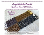PATTERN TUTORIAL – Smug Satisfaction Bracelet, Right Angle Weave Pattern with Farfalle and Seed Beads
