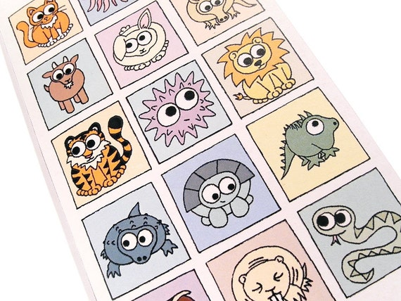 Congratulations Card - Cryptic Animals - puzzle card with message spelt out using cute creatures, say it with animals
