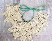 Rustic crochet stars,  farmhouse Christmas tree ornaments, card-making, papercrafts, gifts for her