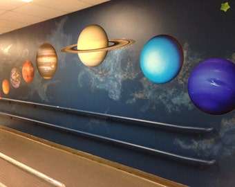 Enormous Set of Planets of Our Solar System Vinyl Wall Decals