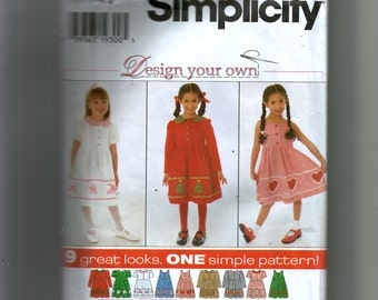 Simplicity Child's Dress and Jumper Pattern 7283