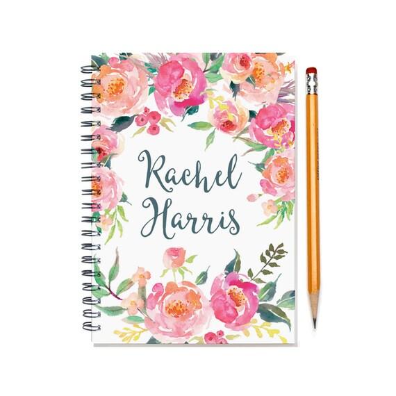 Calendar Notebook Design : Month planner personalized calendar notebook or