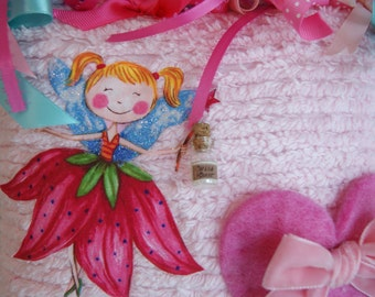 Custom Boutique Chenille Tooth Fairy Pillow