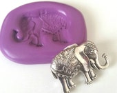 Fancy ELEPHANT Silicone Mold Mould 32 mm Polymer Clay Sugarpaste Fimo Cake Decorate Icing Tool Fondant Sugarcraft