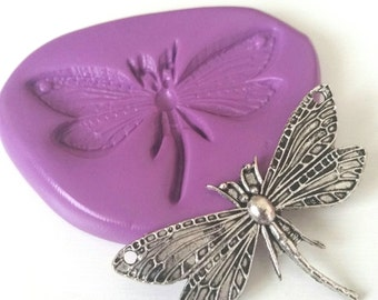 DRAGONFLY Flexible Silicone Mold Mould 50 mm - Sugarpaste Fimo Cake Decorate Fondant Chocolate