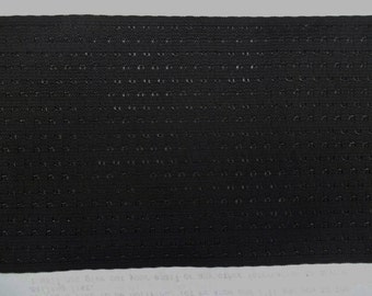 BLACK Elastic 5-1/8 inch Vented Breathable Waistband Belt Corset By The Yard New