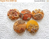 SUMMER SALE - Bejeweled buttons,  embellished buttons, beaded buttons, embroidered buttons, sequinned buttons, fabric covered buttons, size