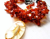 RESERVED FOR RACHEL Scorpion Amber Luxe - Multi Strand Necklace - Vintage - Statement - Etsy Jewelry - catROCKS