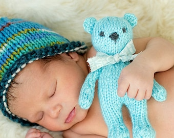 Small Teddy Bear Prop KNiT Mini Teddy Bear Stuffie Toy NeWBoRN BaBY PHoTO PRoP Childs Stuffed Animal KiD SoFT ToY Pick Color BuNNY MoUSE CaT