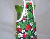 Strawberry Garden Dish Soap Bottle Apron Cover Staffer Party Favor Handmade Lg