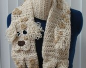 English Setter Dog Crochet Scarf Made to Order